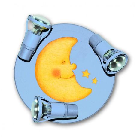 Waldi Leuchten La Luna Round hellblau