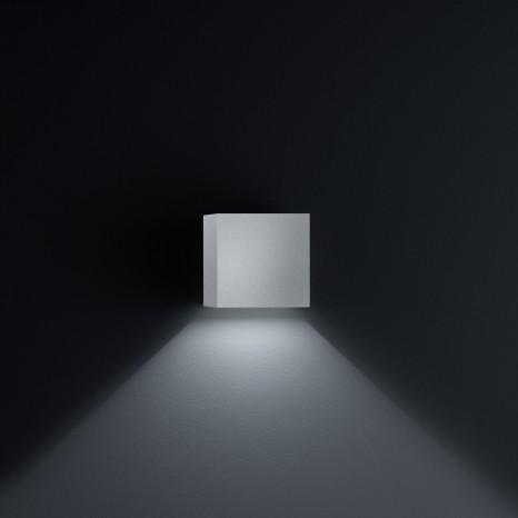 Siri 44, 10 x 10 cm, IP54, inkl LED, nickel matt