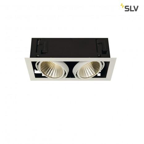 KADUX LED DL Set, mattweiss, 2x24W, 30°, 3000K, inkl Treiber