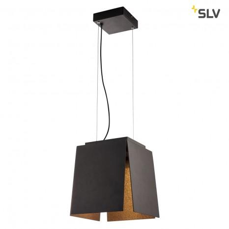 AVENTO 30 PD, LED Indoor Pendelleuchte, schwarz/gold, 3000K