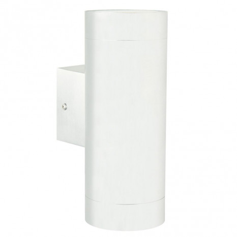 Tin Maxi Höhe 19 cm weiß 2-flammig zylinderförmig