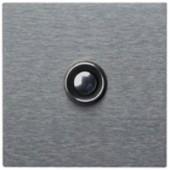 Klingelplatte, 1-fach, Edelstahl, 6 mm