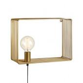 Shelf Breite 38 cm gold 1-flammmig viereckig B-Ware