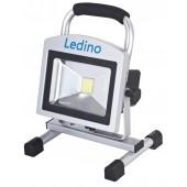 LED-Akkustrahler 20W Köpenick 210, 10,4 Ah, sillber
