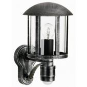 Brostu, E27, mit Bewegungsmelder, schwarz-silber