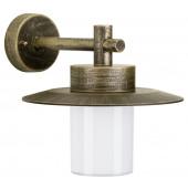 Nr. 1852 Höhe 26 cm braun-messing 1-flammig zylinderförmig