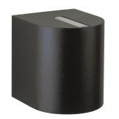 Wandstrahler Nr. 2400 Farbe: schwarz, Lichtaustritt eng/eng, mit 2 x LED 6,7 W, je 600 lm, 3000 K
