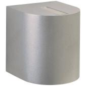 Nr. 2400 silber, Lichtaustritt eng/eng, 2 x LED 6,7 W, je 600 lm, 3000 K