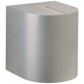 Wandstrahler Nr. 2401 Farbe: silber, Lichtaustritt eng/breit, mit 2 x LED 6,7 W, je 600 lm, 3000 K