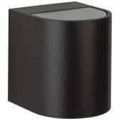 Nr. 2402  schwarz, Lichtaustritt breit/breit, 2 x LED 6,7W, je 600 lm, 3000 K