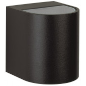 Wandstrahler Nr. 2402 Farbe: schwarz, Lichtaustritt breit/breit, mit 2 x LED 6,7 W, je 600 lm, 3000 K