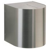 Wandstrahler Nr. 2403 Edelstahl, Lichtaustritt eng/eng, mit 2 x LED 6,7 W, je 600 lm, 3000 K
