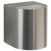 Wandstrahler Nr. 2405 Edelstahl, Lichtaustritt breit/breit, mit 2 x LED 6,7 W, je 600 lm, 3000 K