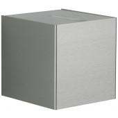 Wandstrahler Nr. 2412 Edelstahl, Lichtaustritt eng/eng, mit 2 x LED 6,7 W, je 600 lm, 3000 K