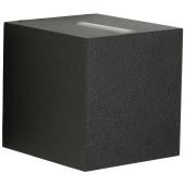 Wandstrahler Nr. 2416 Farbe: schwarz, Lichtaustritt eng/breit, mit 2 x LED 6,7 W, je 600 lm, 3000 K