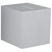 Nr. 2416 silber, Lichtaustritt eng/breit, 2 x LED 6,7 W, je 600 lm, 3000 K