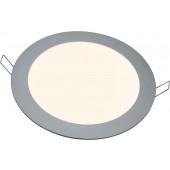 LED Panel Ø 26 cm silber 1-flammig rund