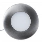 LED Panel, Ø 74mm, warmweiß, Edelstahloptik