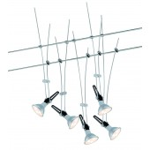 Nice Price Wire System LED 5x4W GU5,3 Chrom 230/1