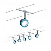 Wire System BlueLED 5x4W Schwarz/Blau/ Chrom 230/