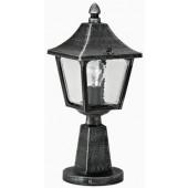 Mattano Höhe 45 cm schwarz-silber 1-flammig viereckig