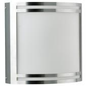 Wand-, u Deckenleuchte, Edelstahl, Silber, Tiefe 11,5 cm