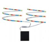 Function Mobil Stripe 2x80 cm RGB 1,2W 9V 6LR61 Weiß Metall/Kunststoff