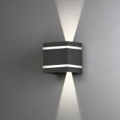 Cremona Höhe 11 cm anthrazit 1-flammig quadratisch