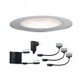 Plug & Shine Basisset Floor Eco Ø 7 cm silber 1-flammig 3er-Set 4000K