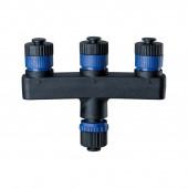 Plug & Shine Verteiler Breite 9,4 cm schwarz eckig