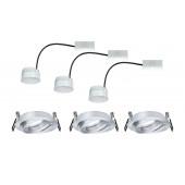 Coin, LED, IP23, schwenkbar, rund, 3er-Set, metallisch