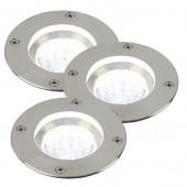 Tilos, LED, Edelstahl, 3er-Set