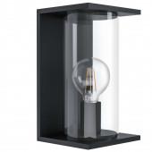 Cascinetta Höhe 28 cm schwarz 1-flammig quaderförmig