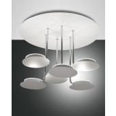 Fullmoon LED, weiß, Metall/Methacrylat, weiß/satiniert, 4320lm, 45W
