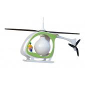 Hubschrauber Kasper Länge 67 cm grün 1-flammig rechteckig