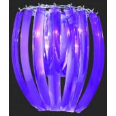 Janika Wall Höhe 30 cm violett 1-flammig halbrund