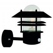 Blokhus, E27, IP54, mit Bewegungsmelder, schwarz