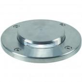 Tilos, LED, einzeln, rund, mit Abdeckung, metallisch