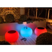 Bubble Outdoor LED Accu mit Glasplatte