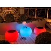 Bubble Outdoor LED Accu mit Filzauflage orange