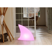 Shark Indoor LED Länge 70 cm weiß 1-flammig rund