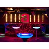 Lounge M 105 LED Pro Accu, Farbwechsel, Höhe 105 cm, Ø 60 cm, Fernbedienung