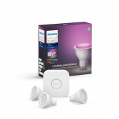 White & Color Ambiance Starter Set, 3 x GU10, inkl. Bridge