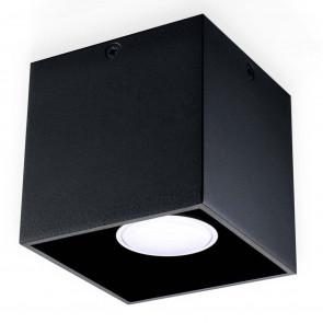 Quad 1 10 x 10 cm schwarz 1-flammig würfelförmig