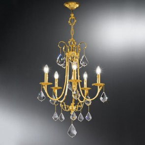 Fiorenza Luster, 24 Karat Gold, Kristall, E14, 0057.85.3.KpT