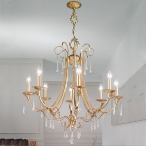 Fiorenza Luster, Gold Antik,  E14, 0057.88.G.T