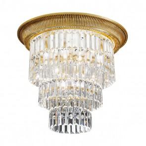 Milord Crystal DL, Französisch Gold, Kristall, E27+E14, 1+0346.14L.15