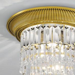 Milord Crystal DL, 24 Karat Gold, Kristall, E27+E14, 1+0346.14L.3