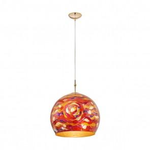 Luna PL, 24 Karat Gold, Glas, E27, 0392.31L.3.Aq.RV, Aqua Red