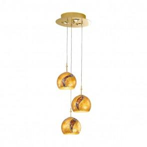 Luna PL, 24 Karat Gold, Glas, E27+GU10, 3+0392.33+3.3.Ki.Au, Kiss Gold
